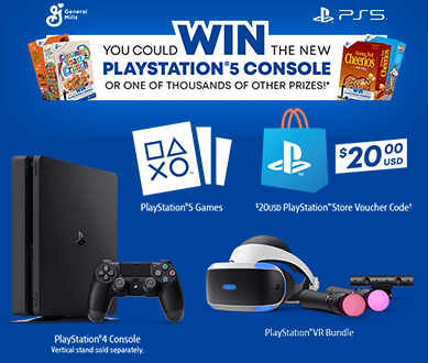 General Mills Playstation 5 Instant Win Game (5,000 Winners!)