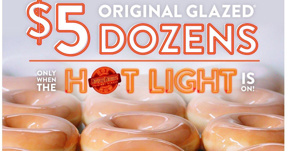$5.00 Dozen Doughnuts Deal at Krispy Kreme