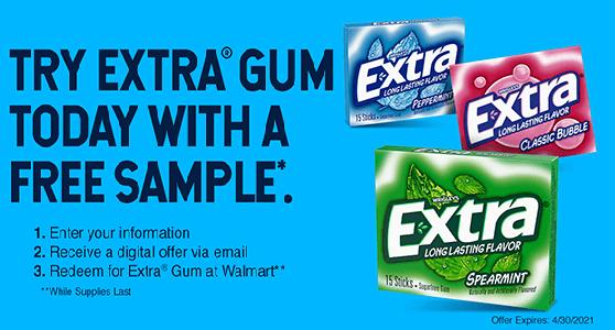 FREE Extra Gum 15-Stick Slim Pack at Walmart