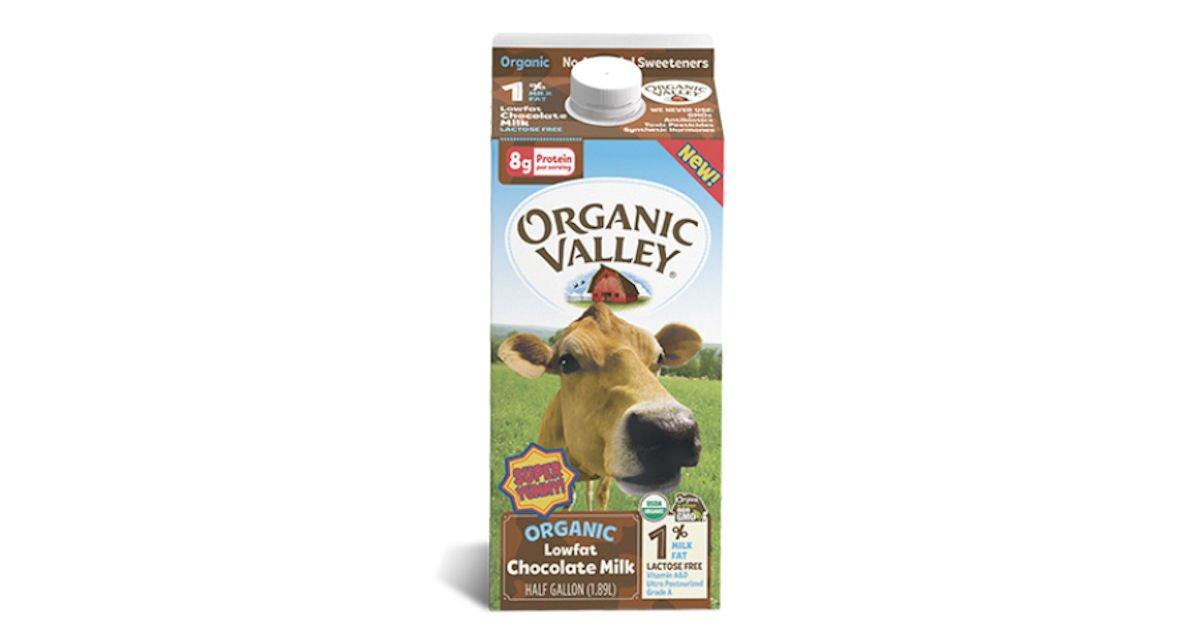 Free Organic Valley Lowfat 1% Chocolate Milk