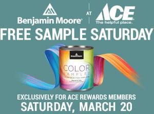 FREE Benjamin Moore Paint Sample at Ace