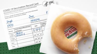 free Original Glazed® doughnut at Krispy Kreme