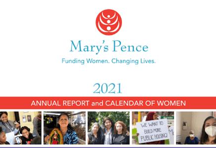 FREE 2021 Mary's Pence Calendar of Women