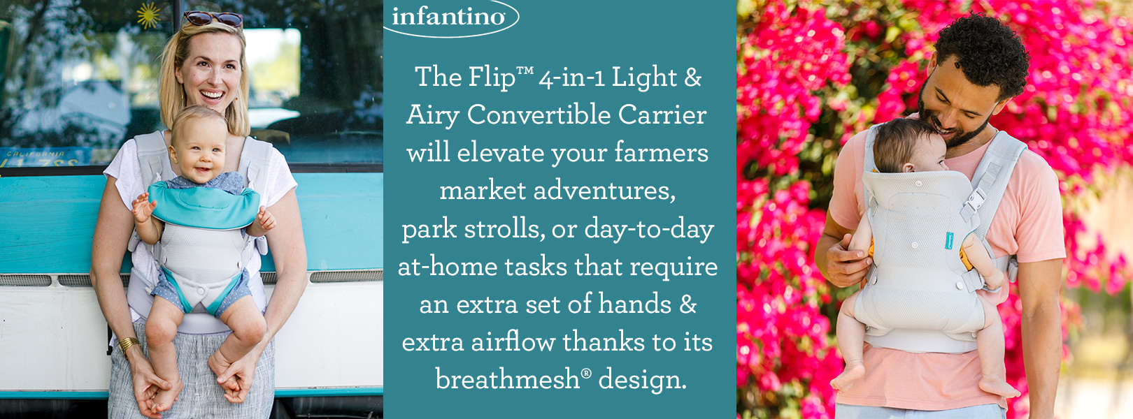 FREE Infantino Flip 4-in-1 Light & Airy Convertible Carrier