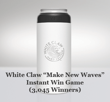 "White Claw ""Make New Waves"" Instant Win Game (3,045 Winners)"