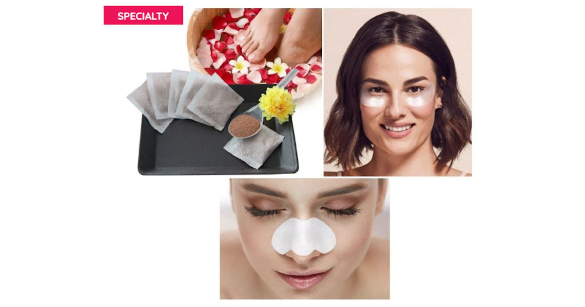 Possible Free Nose Pore Strip, Foot Bath + Under Eye Patch