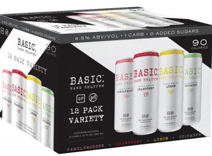 FREE Basic Hard Seltzer Basic Hard Seltzer 12-Pack after Rebate