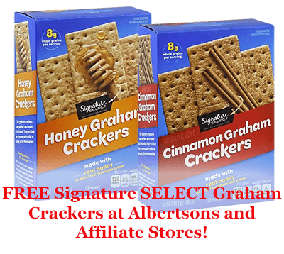 FREE Signature SELECT Graham Crackers at Albertsons and Affiliate Stores