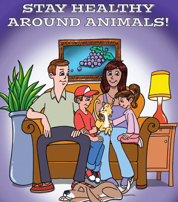 FREE Stay Healthy Around Animals Coloring Book for Kids