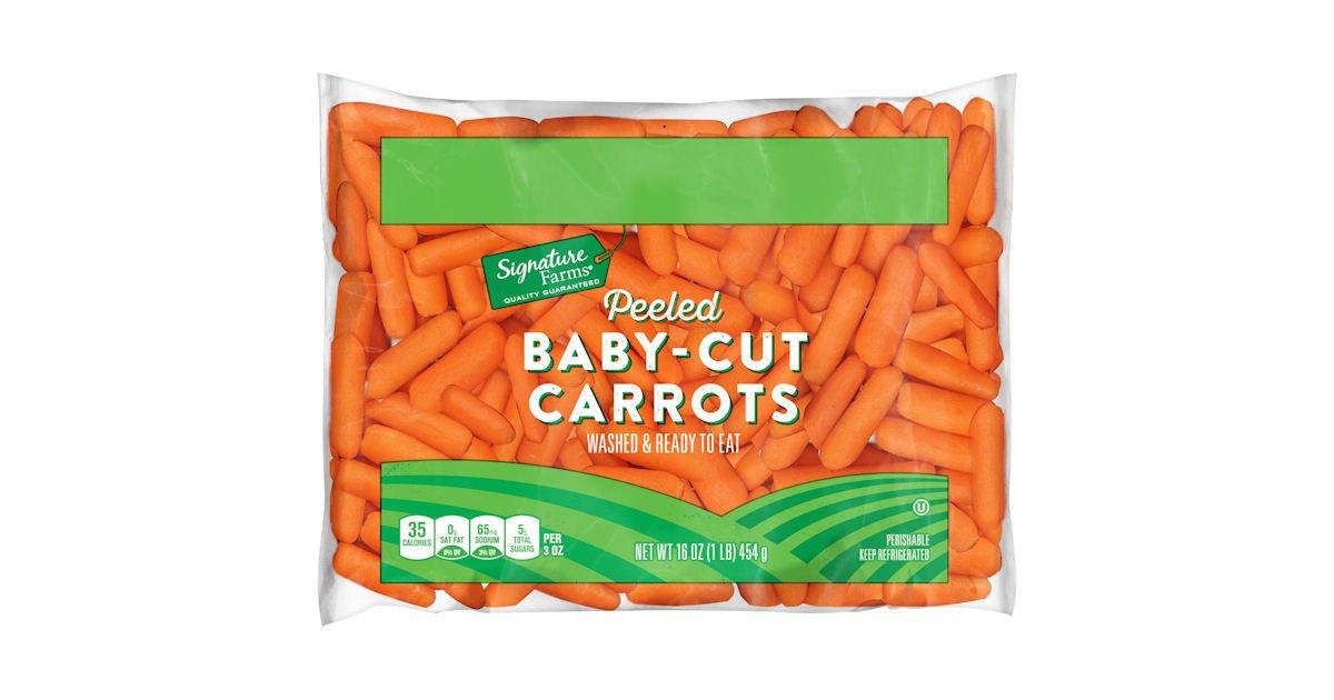 Free Signature Farms Baby Peeled Carrots