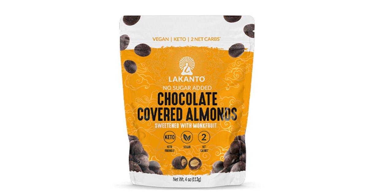 Free Lakanto Chocolate Covered Almonds