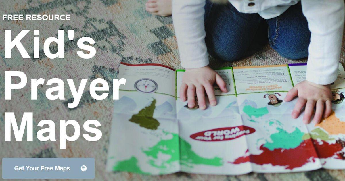 Free Kids' World Prayer Map