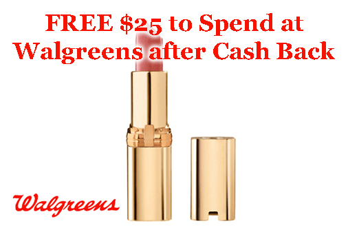 FREE $25 to Spend at Walgreens after Cash Back