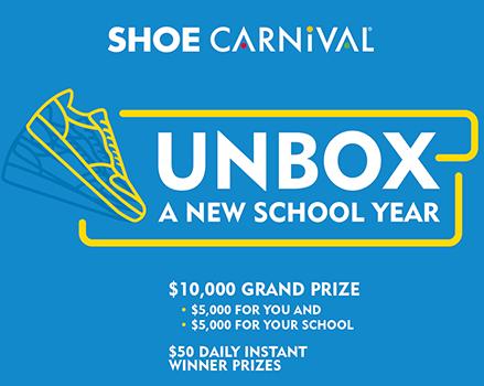 "Shoe Carnival ""Unbox A New School Year"" Instant Win Game (121 Winners!)"