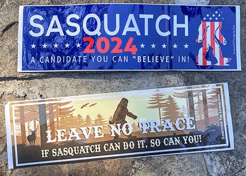 FREE Sasquatch The Legend Bumper Stickers