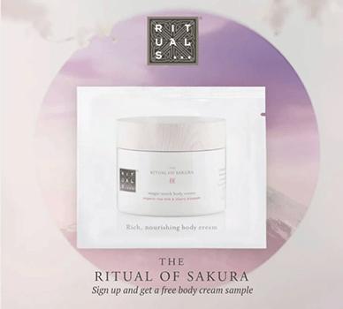 FREE Rituals Sakura Magic Touch Body Cream Sample