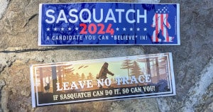 FREE Sasquatch 2024 and Leave No Trace Stickers