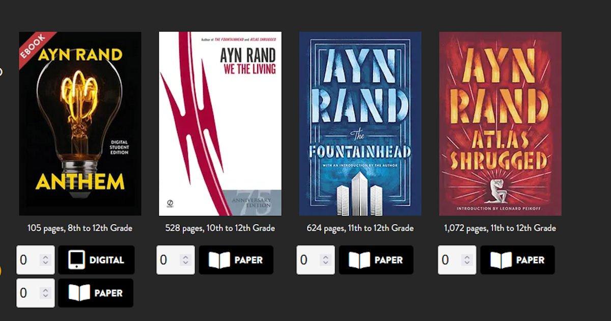 Free Ayn Rand Novels for Teachers