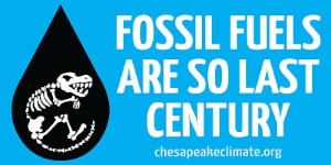 FREE Fossil Fuels are So Last Century Sticker