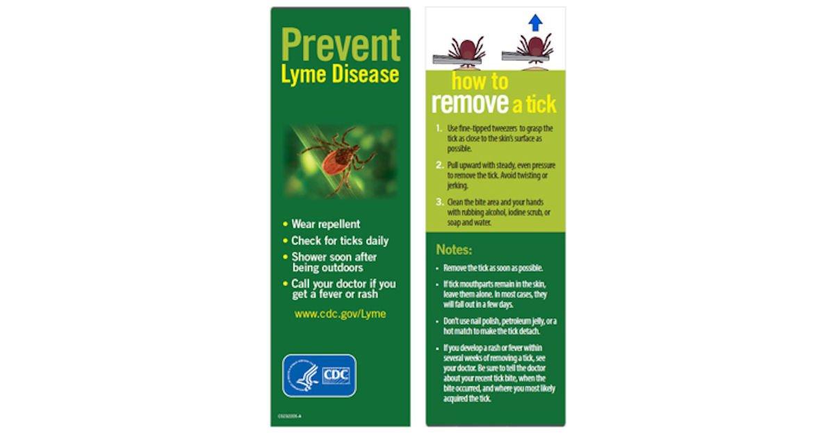Free Prevent Tickborne Diseases Bookmerk