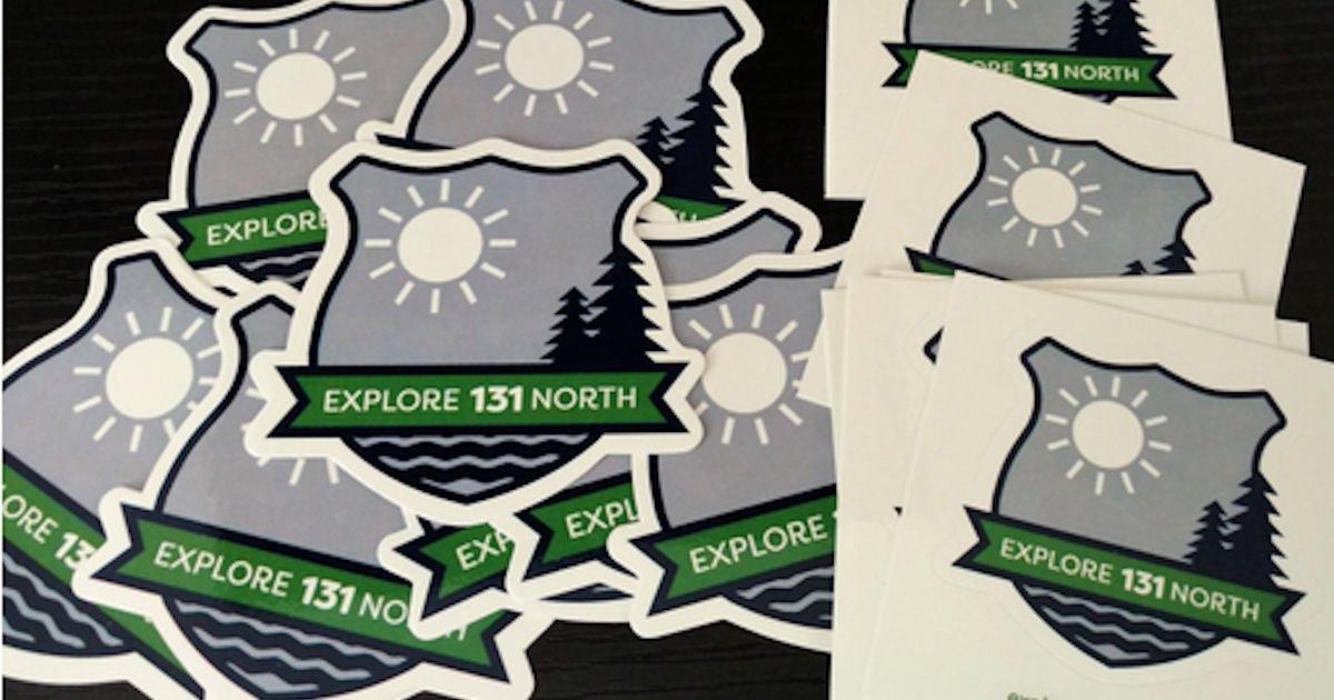 Free Explore 131 North Postcard & Decal