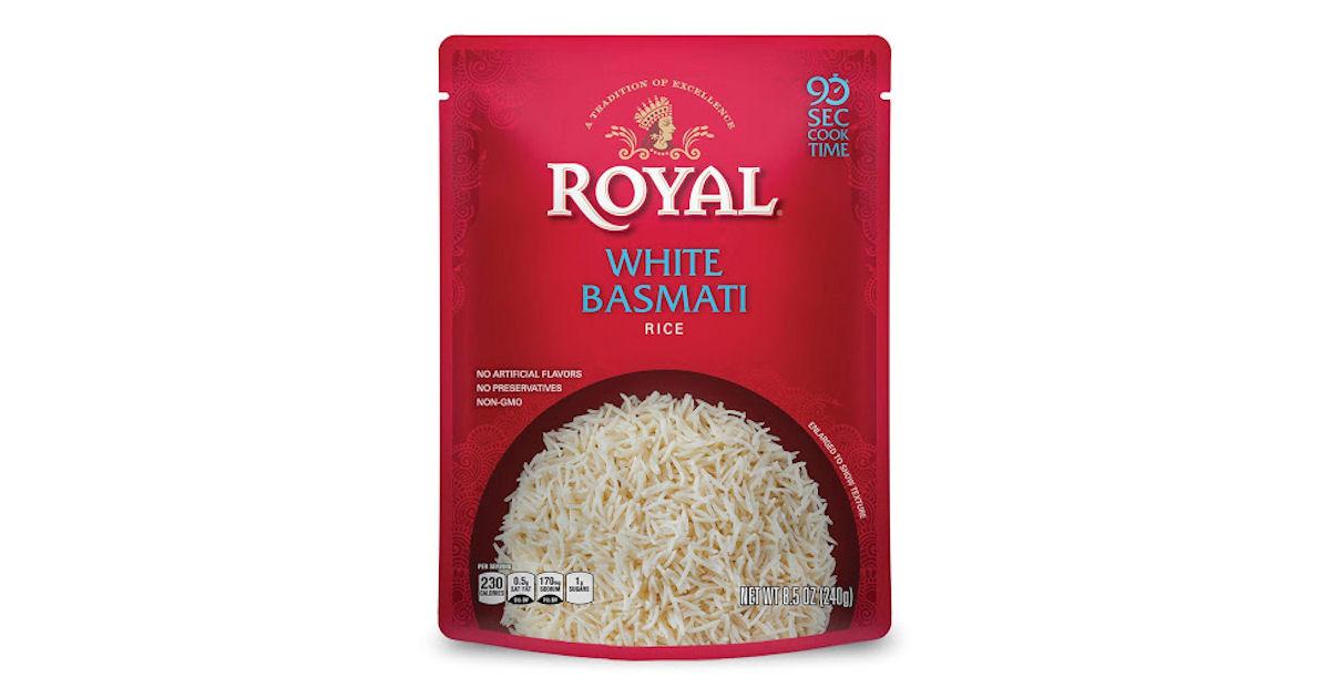 Free Royal Ready to Heat Rice at Select Stores