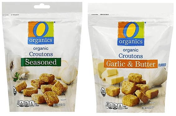 FREE O Organics Croutons at Albertsons and Affiliate Stores