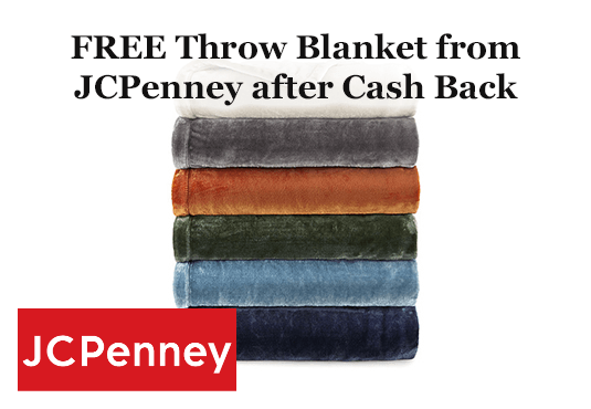FREE Throw Blanket from JCPenney after Cash Back